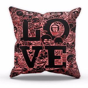 Love Cave RED Cushion Valentines Day Home Decor Cover Pillow Linen C17