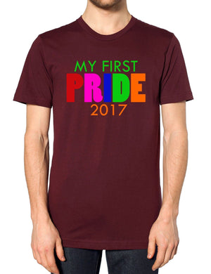 My First Pride 2017 T Shirt Gay Protest Festival Love Homosexual Happy EM41