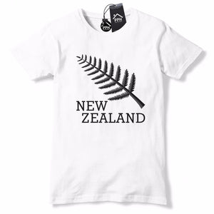 New Zealand Rugby T Shirt Fern Leaf All Blacks Shirt Top Tee Lions World Cup 603