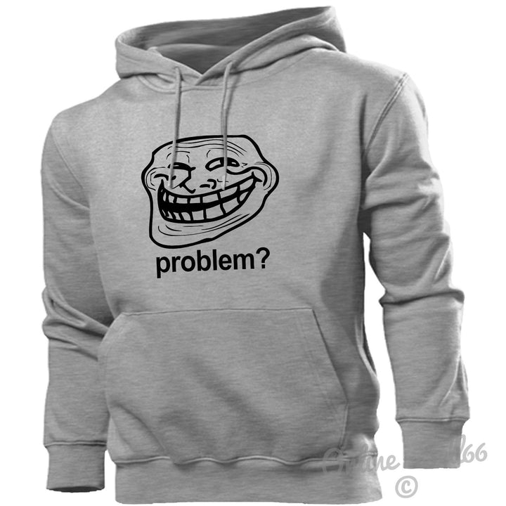 Troll Face Internet Hoodie Hoody Men Women Kids Trolling Trolls , Main Colour Sport Grey