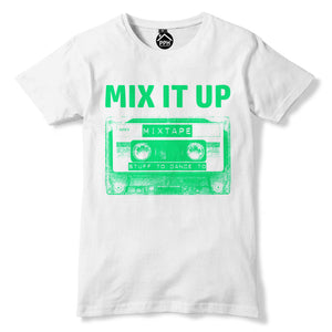Mix It Up T Shirt Old School 80s Cassette Tape Music Tshirt Top Disco Dance 355