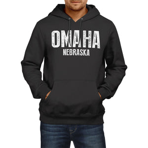 Omaha Nebraska SLOGAN Mens US State HOODIE America Sweater Football Hoody USA