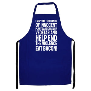 EAT BACON APRON FUNNY MEAT EATER BBQ COOK CHEF MEN WOMEN GIFT PRESENT