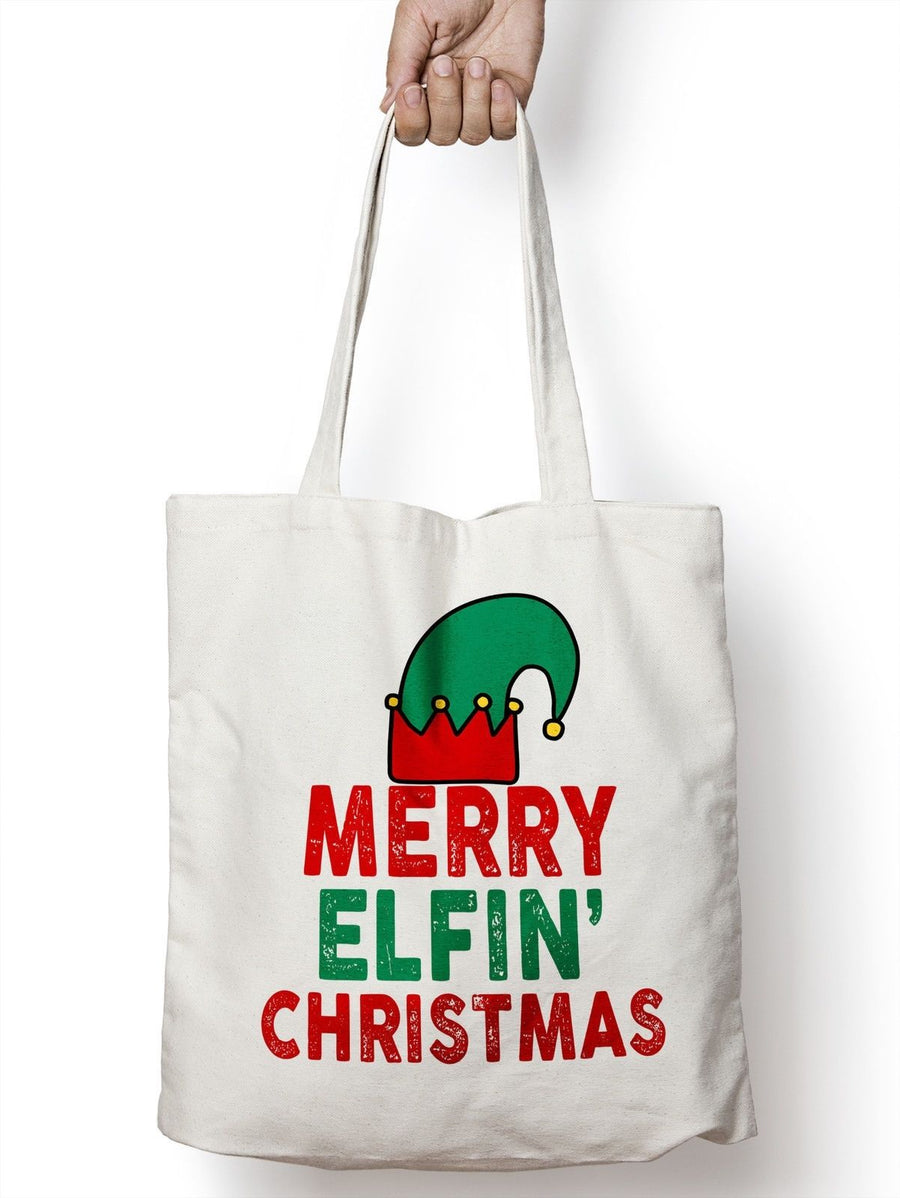 Merry Elfin Christmas Santa Elf Funny Tote Shopper Bag For Life Shopping Ho E32