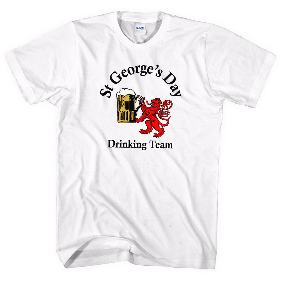 St Georges Day Drinking Team T Shirt Ladies Men Women Funny Saint Top Tee UK L49
