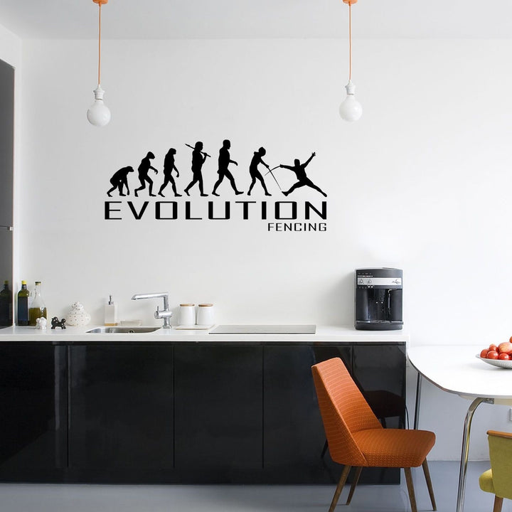Evolution Of Fencing Wall Sticker Vinyl Decal Decors Art Fence Sport Sporting