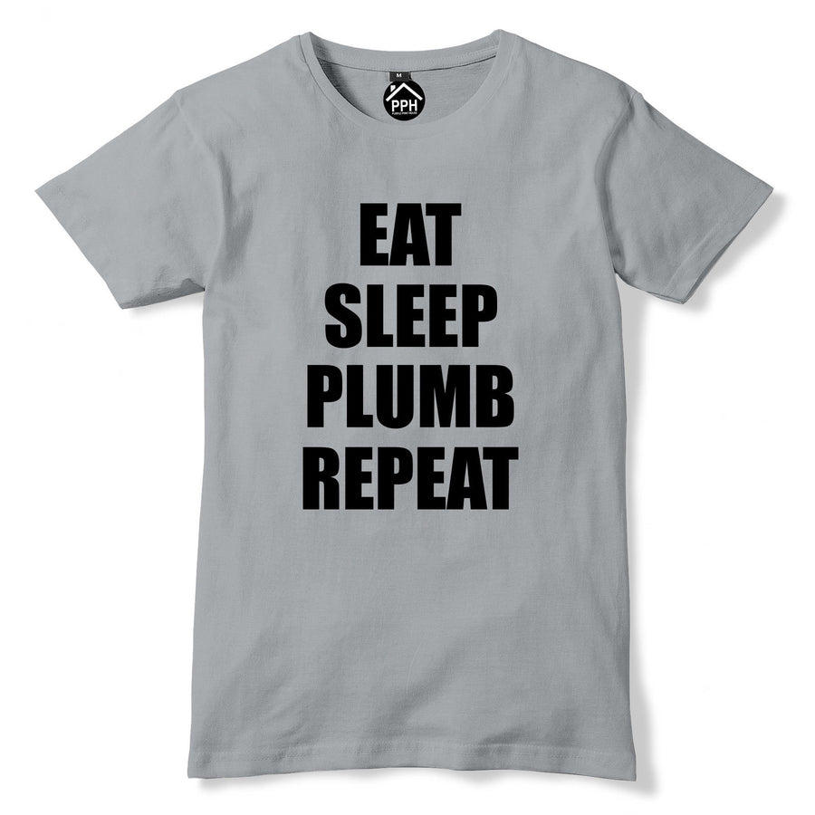 Eat Sleep PLUMBER Repeat Tshirt  Mens Plumbing Funny T Shirt Tradesman PT19