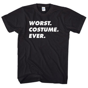 Worst Costume Ever T-Shirt Funny Halloween Tshirt Men Women Kid Fancy Dress L113