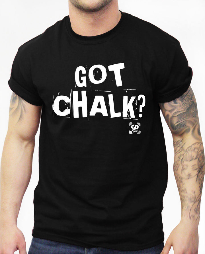 Got Chalk Gym Tshirt Power Lifting Dead Lift Training Top Men Bodybuilding Big