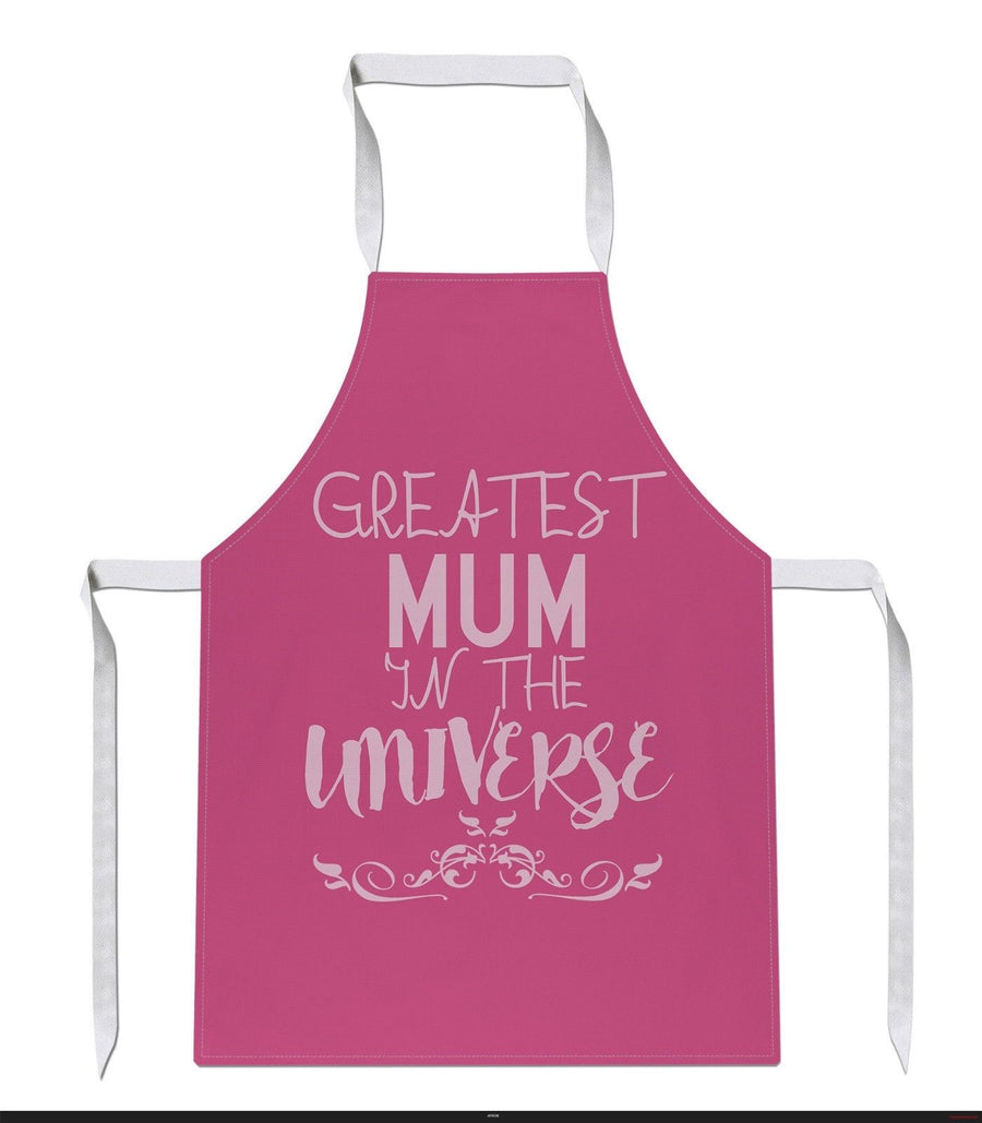 Greatest Mum In The Universe Apron Mothers Day Gift Present Kids Cooking Food