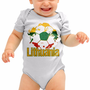 Lithuania Football Shirt Lietuvos Gift Baby Grow Romper Suit Babygrow Gift B40