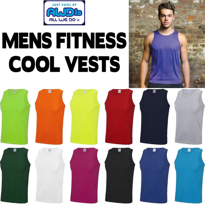 AWD Mens Womens Fitness Gym Cool Vest Top Train Sports Tank Top All Sizes Colour