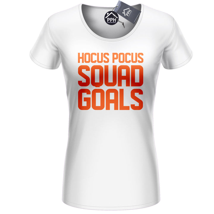Hocus Pocus Squad Goals T Shirt Street Hipster Halloween Outfit Womens Top 413