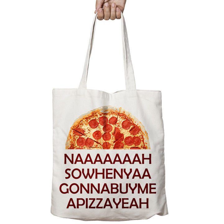 Na So When Ya Buy PIZZA King Funny Food Shopper Tote Bag Shopping Gift 510