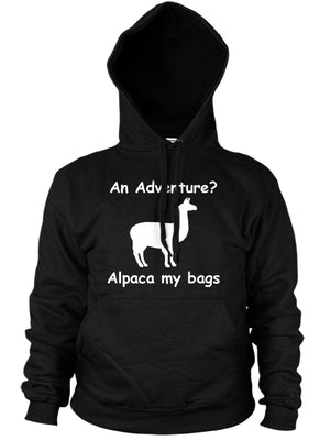Adventure Alpaca My Bags Funny Mens Hoodie Animal Llama Womens Hipster Hoody