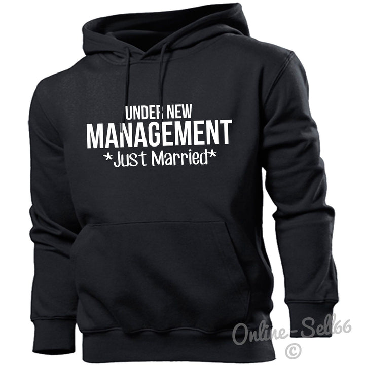 Under New Management *Just Married* Hoodie Hoody Men Women Kids Funny , Main Colour Black