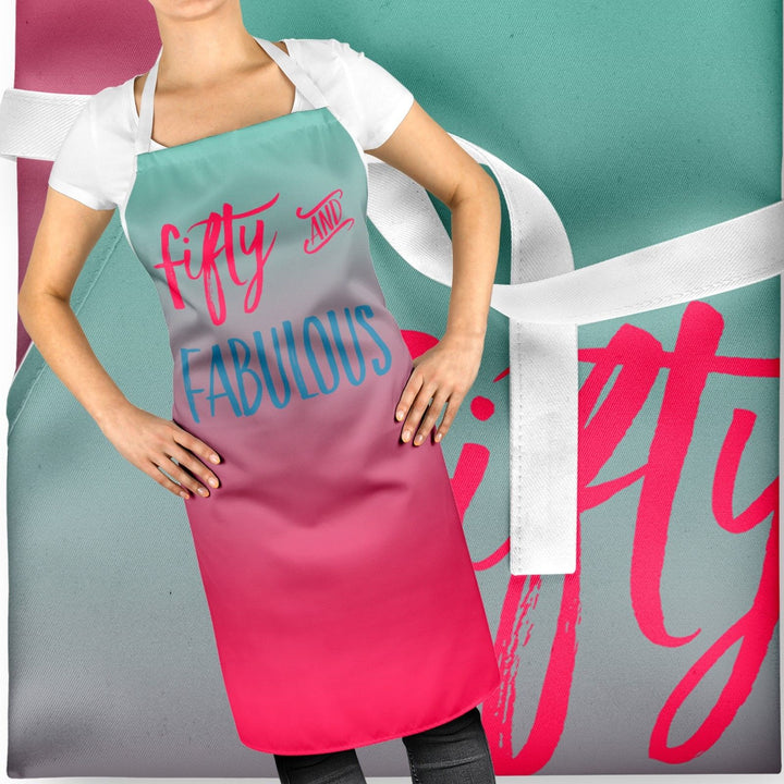 50 and Fabulous 50th Birthday Gift Baking Apron Funny Bake Off Baker Cake ST105