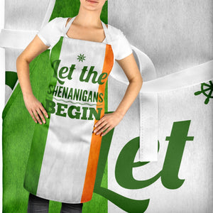Let The Shenanigans Begin Party Ireland Apron Irish Bar St Patricks Day ST108