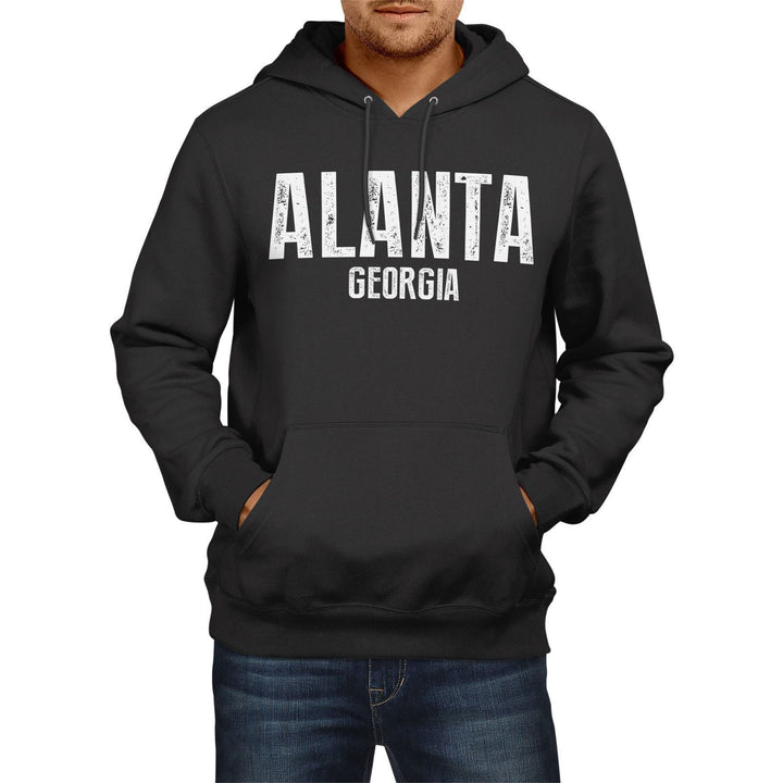Alanta Georgia SLOGAN Mens US State HOODIE America Football USA Hoody Sweatshirt