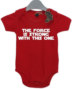 The Force Is Strong With This One Baby Grow BabyGrow Funny Birthday Gift Present