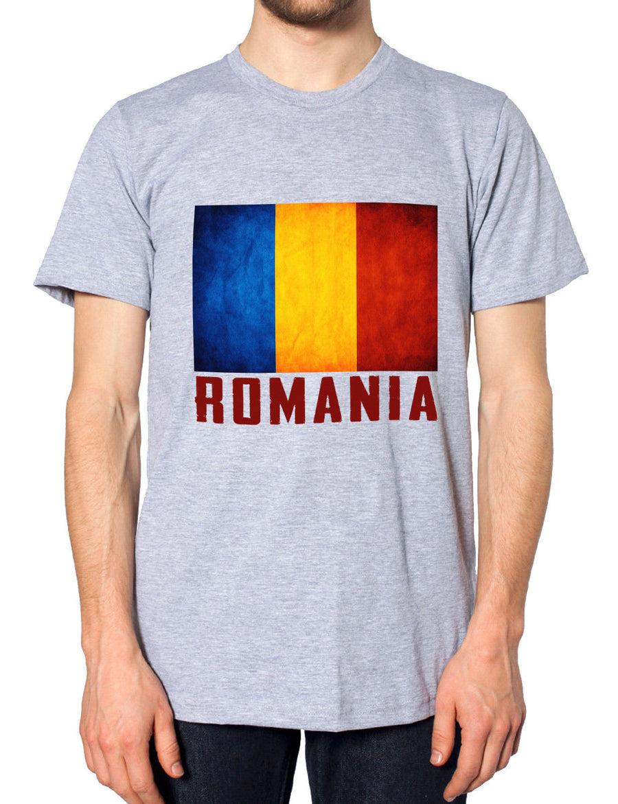 Romania Mens Supporters Nation Top Country Tshirt Football T Shirt