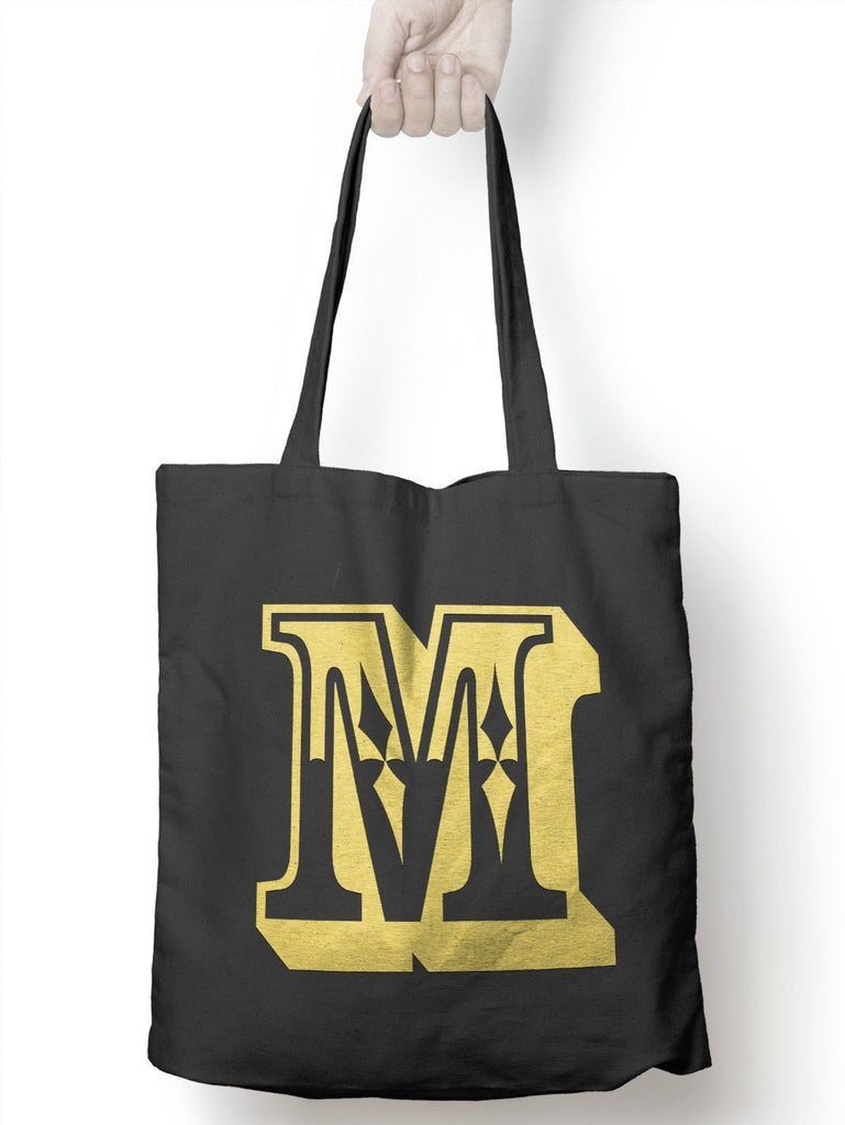 M Rose Letter Tote Bag Personalised Novelty Gift Womens Bag For Life Shopping