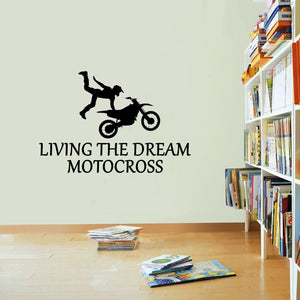 Motocross Sticker Living The Dream Trials Numbers Wall Vinyl Print Decal Art