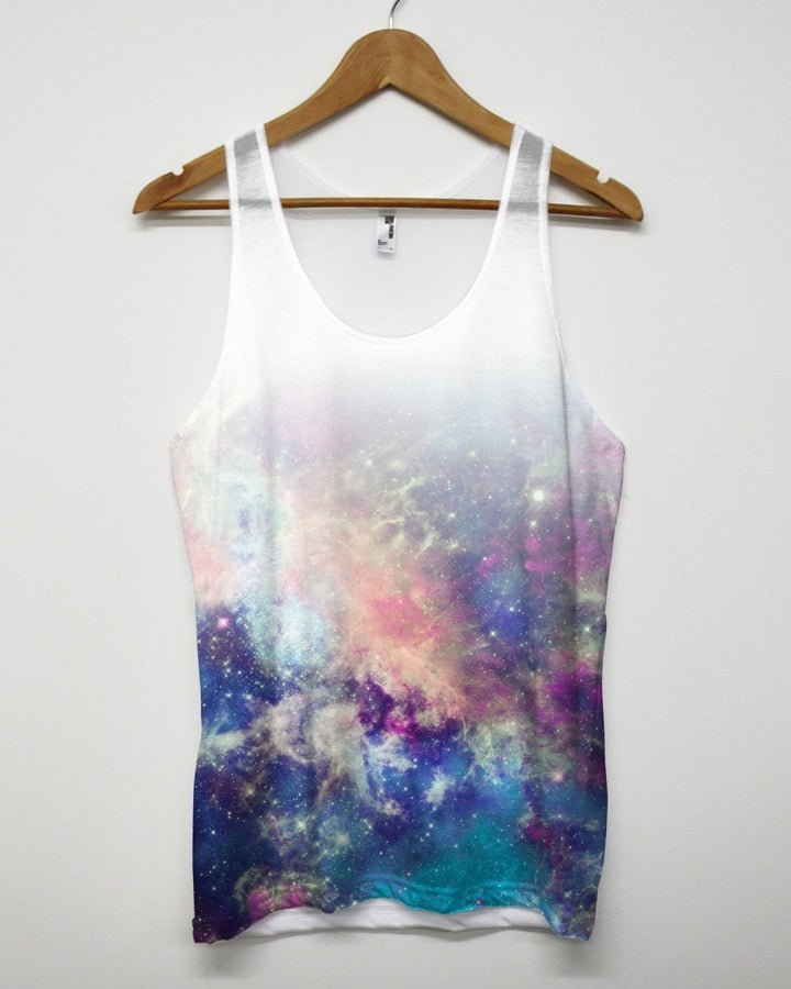 FADED UNIVERSE ALL OVER VEST PRINTED SUBLIMATION GALAXY MEN TOP TANK SINGLET NEW