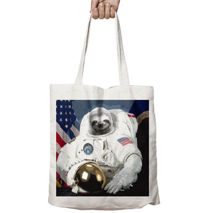 Sloth Astronaut Funny Geek Space Galaxy Shopper Tote Bag Shopping Gift 506