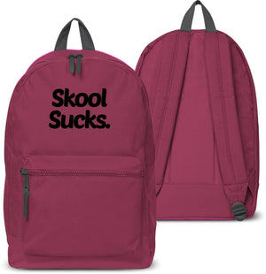 Skool Sucks Back Pack School bag Swag Hipster Dope Hate Holdall Uni Collage 29