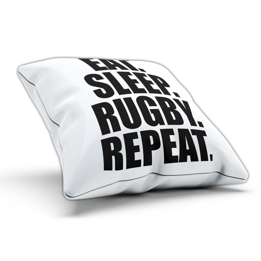 Eat Sleep Rugby Pillow Cushion Pad Cover Case Bed Training Train Sport Gym