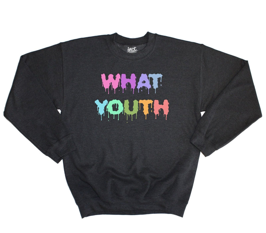 WHAT YOUTH SWEATER DRIPPING HIPSTER SWAG TUMBLR PASTEL GOTH WASTED FUTURE TEEN