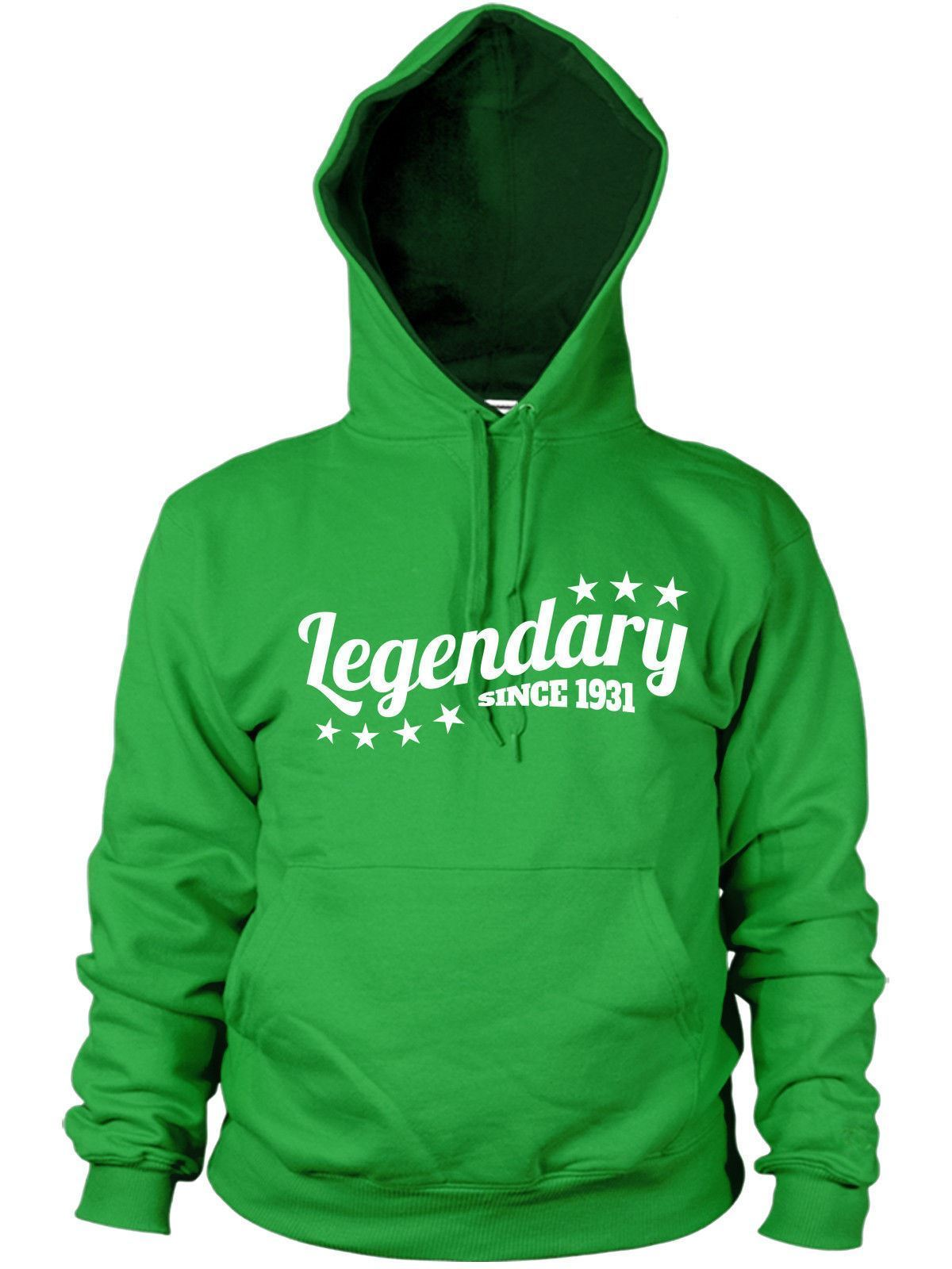 Legendary Since 1931 Hoodie Birthday 85 86 Years Old Present Gift Men Women Dad