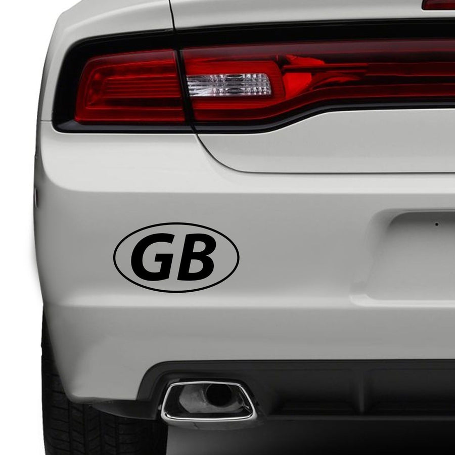GB Car Bumper Sticker Travel Europe Badge Road Vehicle Travelling Vinyl Window
