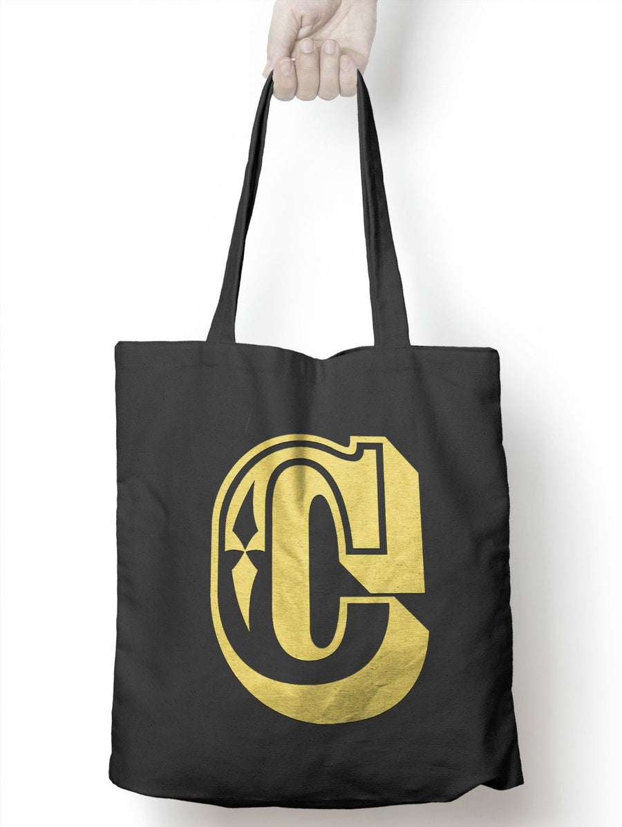 C Rose Letter Tote Shopper Bag New Gift Present Fashion Plastic 5p Charge Shop