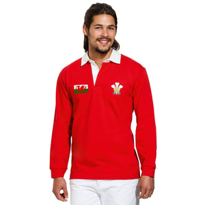Wales Rugby Vintage Polo Shirt Cymru World Cup Nations Retro Jersey Kit Match
