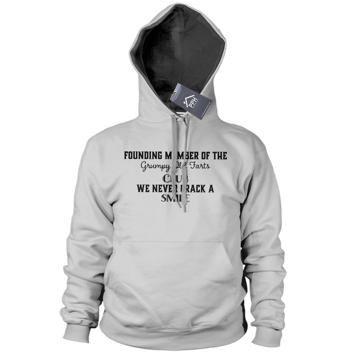 Member of Grumpy Old Farts Club Funny Hoodie Grandad Dad Fathers Day Joke 518