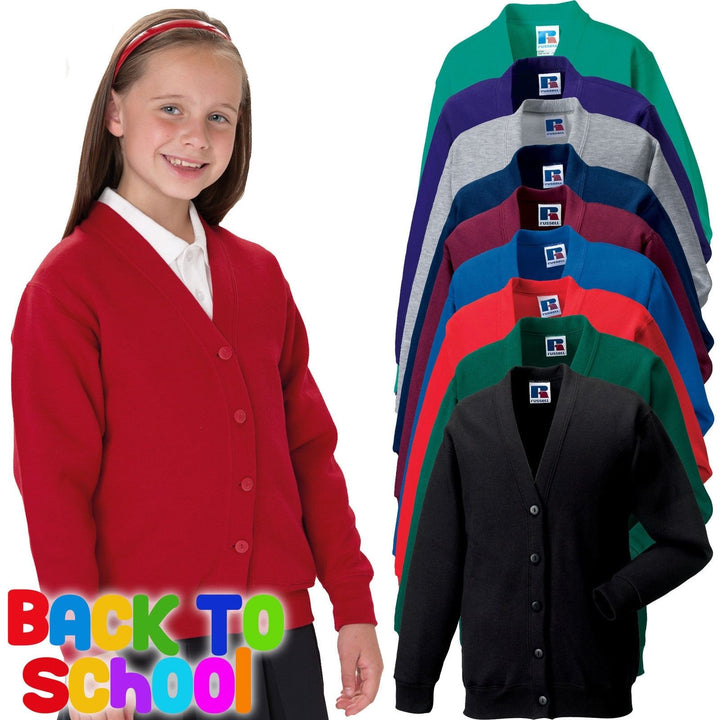 Jerzees Schoolgear Childrens CARDIGAN Sweatshirt School Kids Boys Girls 273B