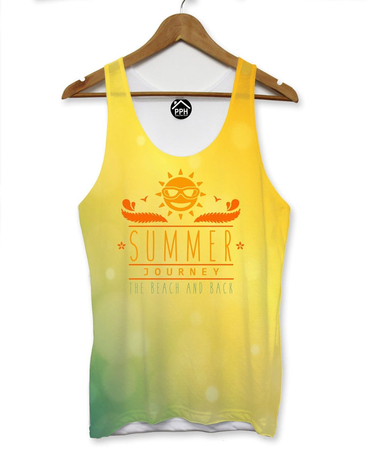 Summer Journey Beach Vest Mens Pool Party Holiday Singlet Sleeveless Tank 107