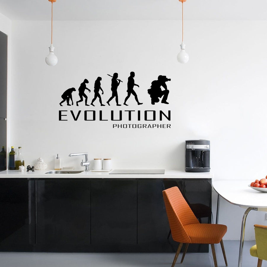 Evolution Of Photographer Wall Sticker Vinyl Decal Decors Art Photos Camera