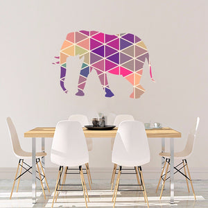 Elephant Vinyl Sticker Geometric Animal Print Wall Vinyl Print Decal Art Design