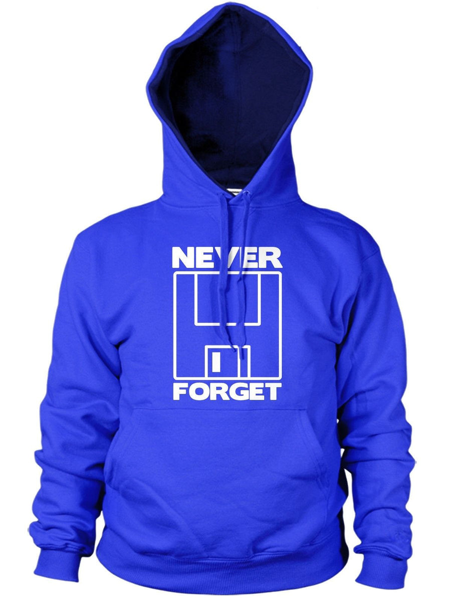 Never Forget the Floppy Funny Mens Hoody Geek Nerd Computer Laptop Hoodie Top
