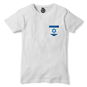 Vintage Print Pocket ISRAEL Flag Tshirt Football Peace War Nation T Shirt 311