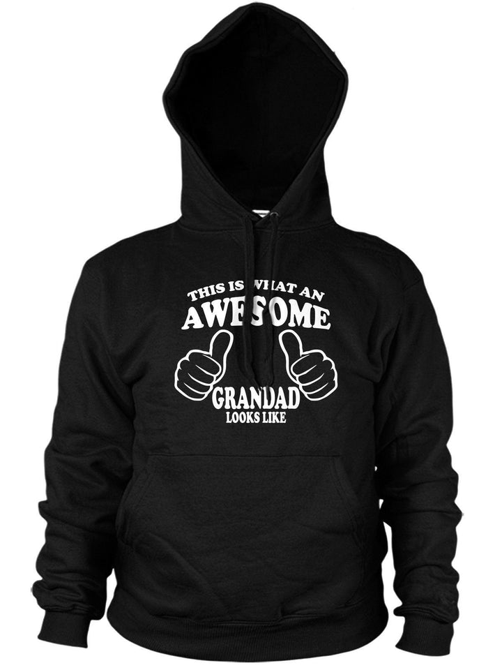 THIS IS WHAT AN AWESOME GRANDAD LOOKS LIKE HOODIE FUNNY GIFT XMAS FATHERS DAY