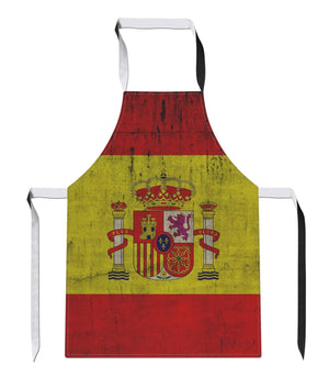 Vintage Spain Country Flag Luxury Novelty APRON Kitchen Tabard Linen Espana