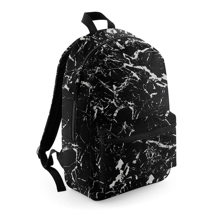 Marble Backpack Black School Trend Men Girl Boy Lad Rucksack Bag Mineral Graphic