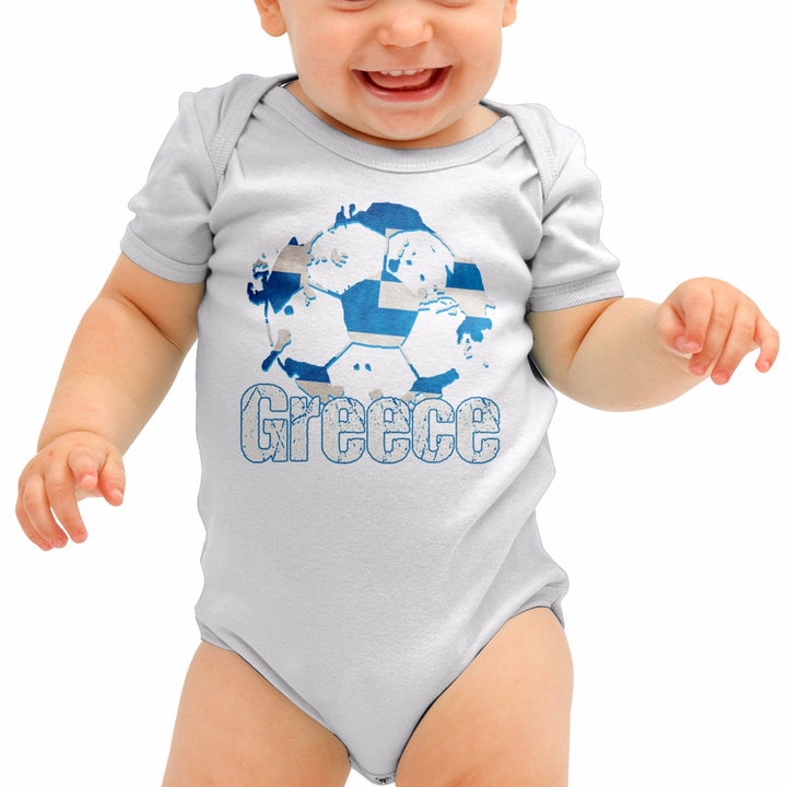 Greece Football Shirt Greek Athens Baby Grow Romper Suit Babygrow Top NewbornB40