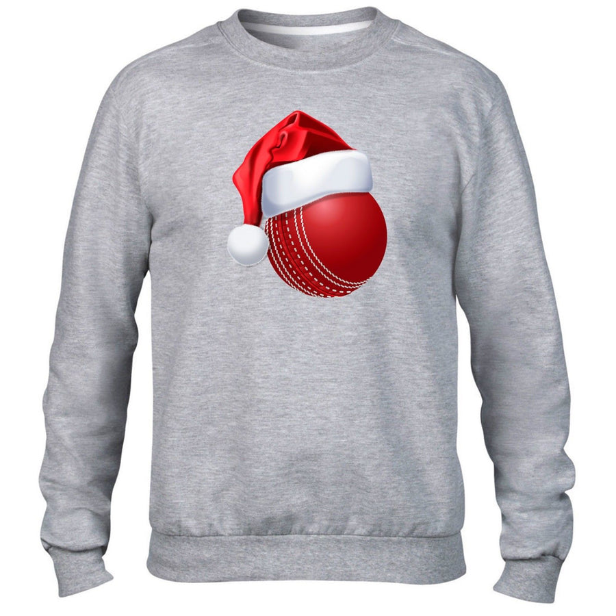 Cricket Ball Christmas Hat Sweater Santa Festive Novelty Sport Kids Present Idea