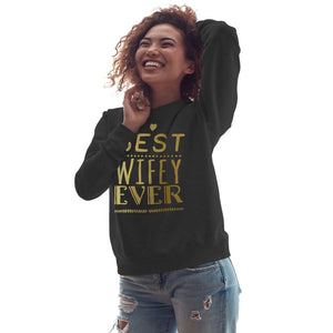 Best Wifey Ever Valentines Day Gift Sweater Womens Wedding Sweatshirt Love V4