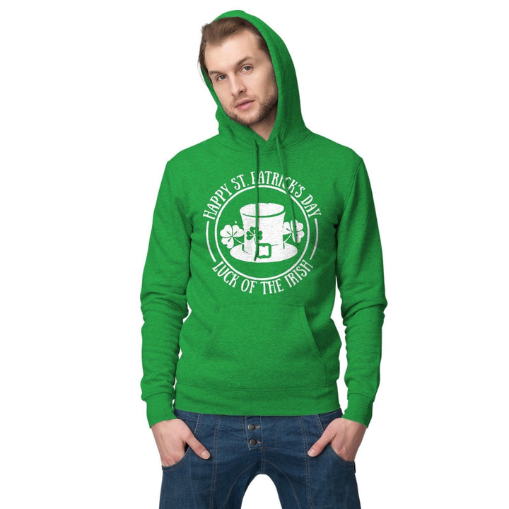 Luck of the Irish Hoodie St Patricks Day Ireland Hoody Sweatshirt T Shirt P34